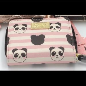 Betsey Johnson Panda Zip Around Wallet